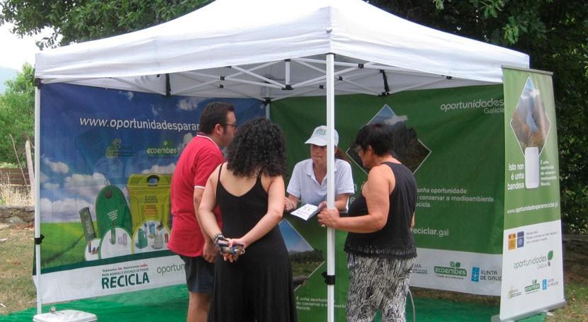 carpa reciclaje continúa ruta Ourense y Lugo