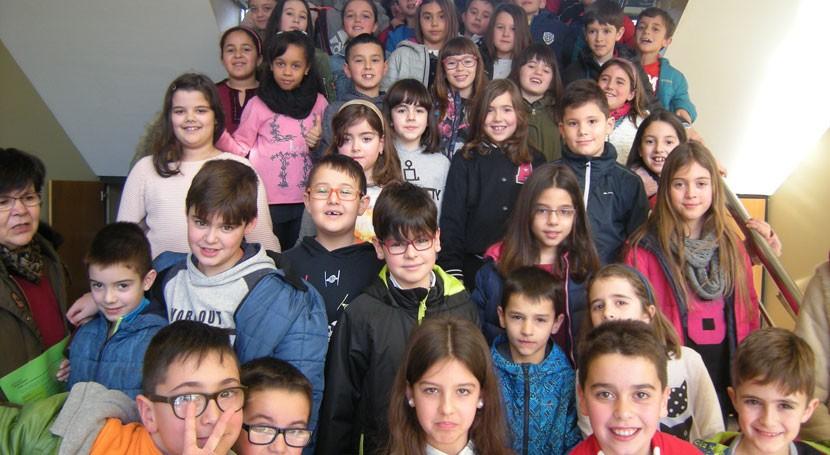 """Pilas, bombillas y aceite doméstico, prioridades ambientales colegio """"Luis Pimentel"""" Lugo"""