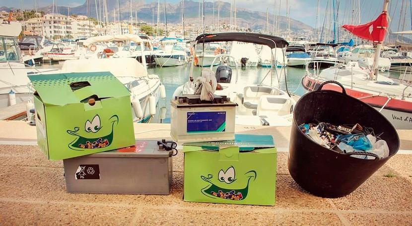 clubes y escuelas náuticas costas españolas baten récord recogida pilas