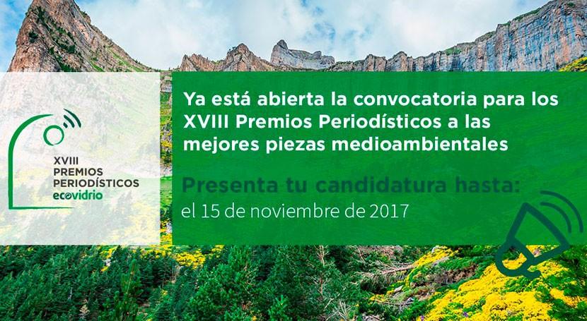 Ecovidrio convoca XVIII Premios Periodísticos