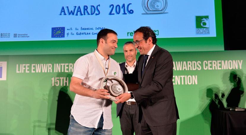 "Utebo recibe Premio europeo EWWR proyecto "" viaje reciclaje"""