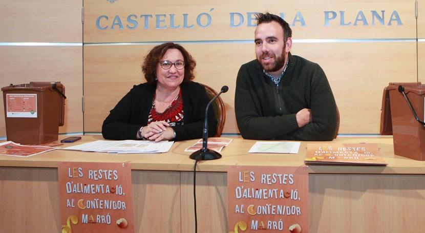 Comienza prueba piloto recogida residuos orgánicos Castellón