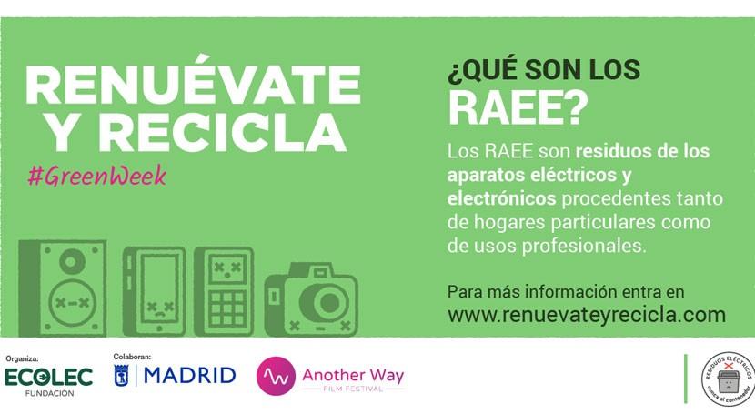 #GreenWeek Ecolec conciencia reciclaje aparatos electrónicos