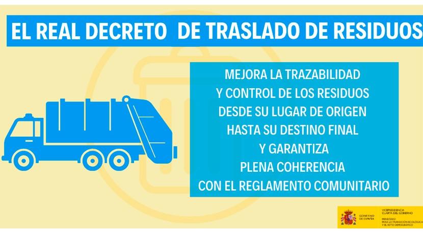 Luz verde al real decreto que mejora trazabilidad y control traslados residuos