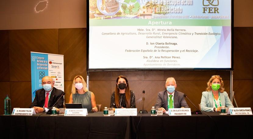 Congreso FER reúne más 400 representantes industria española reciclaje