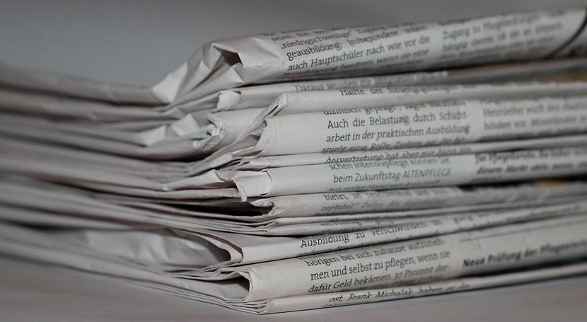 reciclaje eficiente papel, primera última página