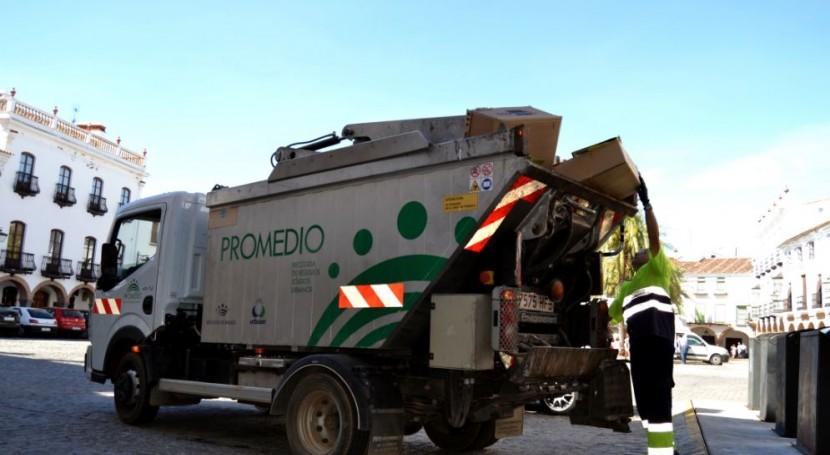 75% municipios Badajoz recogen papel y cartón través PROMEDIO