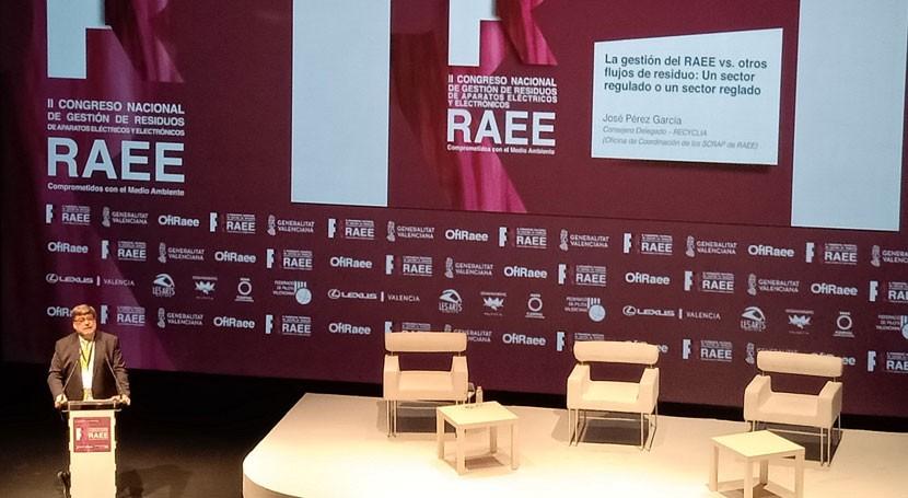 sistemas colectivos reciclaje RAEE gestionaron 262.000 toneladas 2017