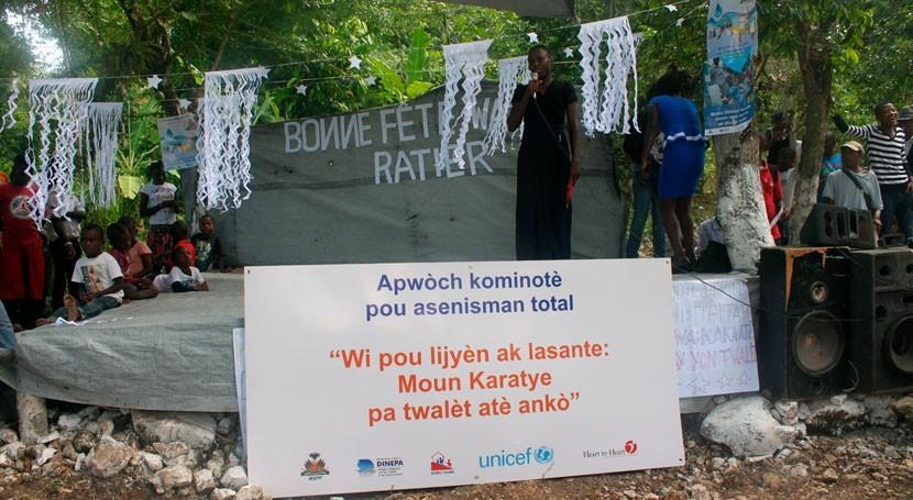 apuesta saneamiento Haití reduce infecciones transmitidas agua