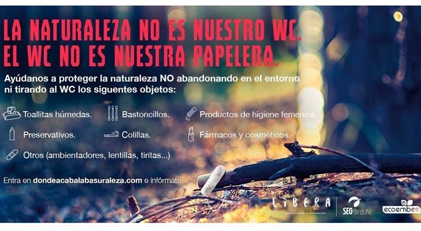LIBERA lanza campaña concienciar consecuencias abandonar residuos higiénicos