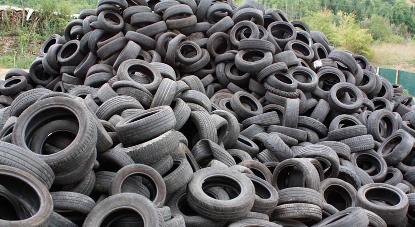 100% neumáticos acumulados Fene serán valorizadas