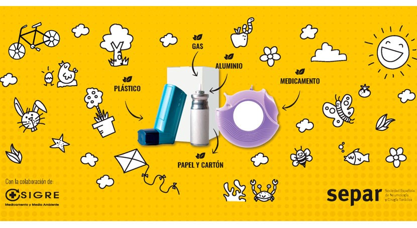 """""""Dale respiro al planeta"""": SEPAR y SIGRE impulsan reciclaje inhaladores"""