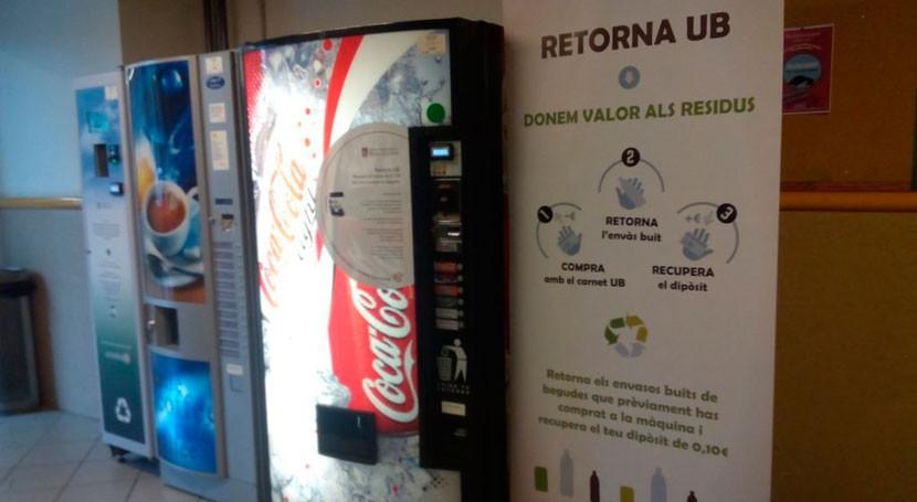 Universidad Barcelona estrena nuevo sistema recuperación envases