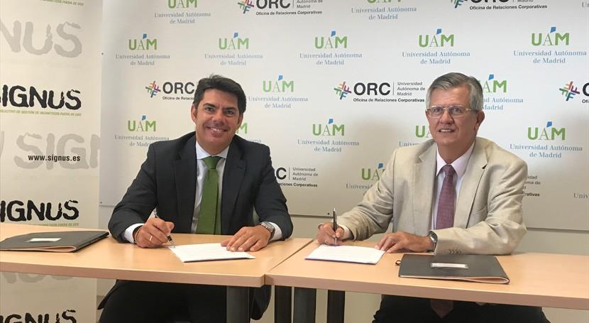 SIGNUS y Universidad Autónoma Madrid aúnan esfuerzos impulsar economía circular