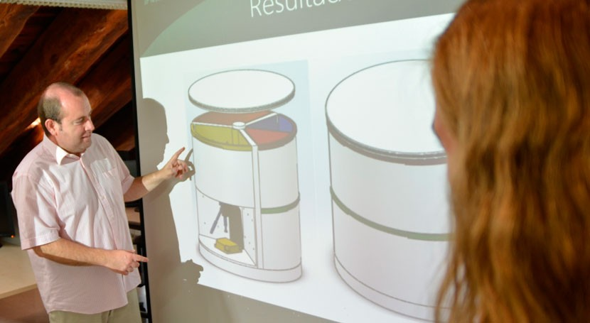 papeleras modulares UPCT ahorran espacio e invitan reciclar