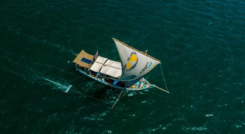 Flipflopi, velero hecho residuos plásticos, viajará lago más grande África