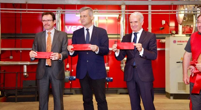 Veolia inaugura red calor biomasa Móstoles Ecoenergía