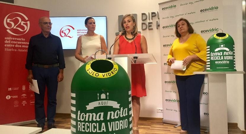 marcha plan incrementar reciclado vidrio Huelva durante verano