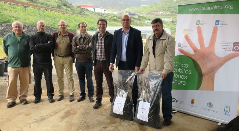 Vivero Cabildo Palma ya utiliza compost proveniente separación biorresiduos