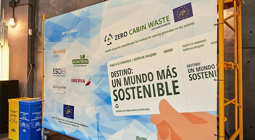 proyecto Zero Cabin Waste recicla más 2.250 toneladas envases vuelos Iberia